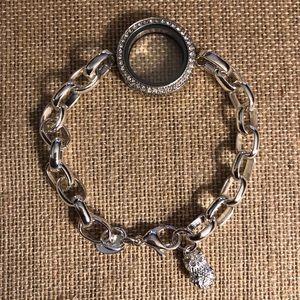 Origami Owl Link Locket Bracelet